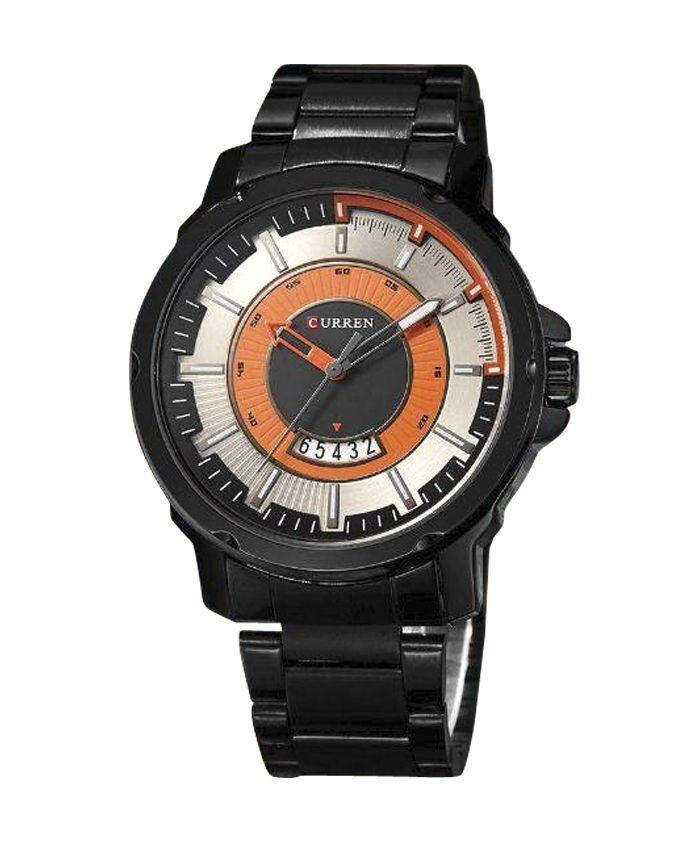 Stainless Steel Analog Watch For Men - Black