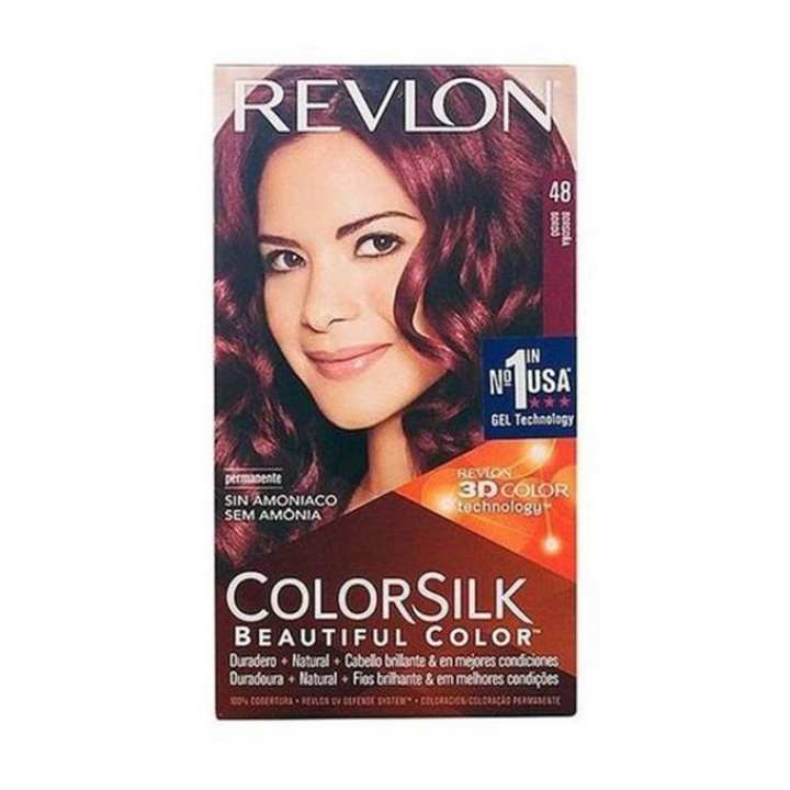 48 Burgundy Permanent Hair Color Gel - 390gm
