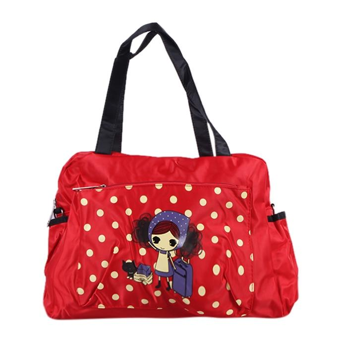 Polyester Hand Bag For Girls - Red