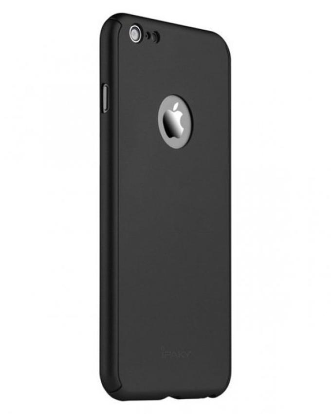 360 Full Protection Case With Tempered Glass for iPhone 6/6S - Black