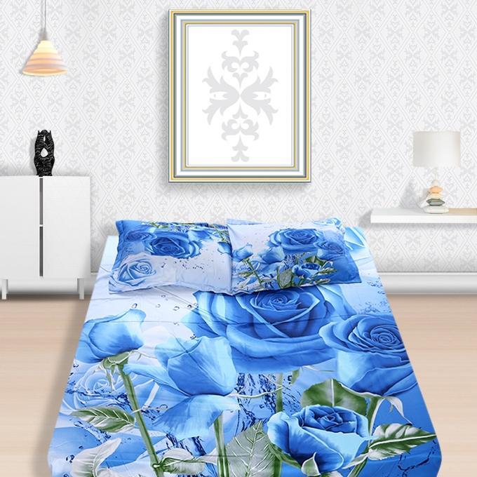 1684 RT Panel Cotton Bedsheet Set - Multicolor