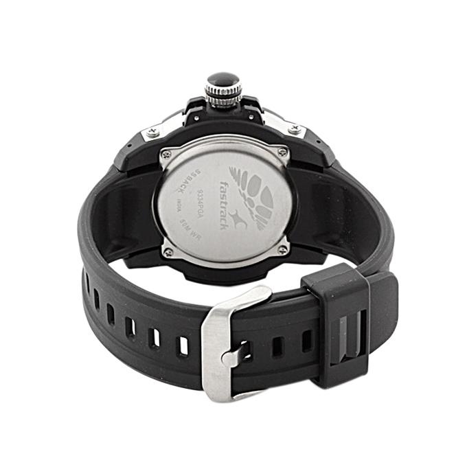 9334PP02 - Synthetic Rubber Analog Watch For Men - Black