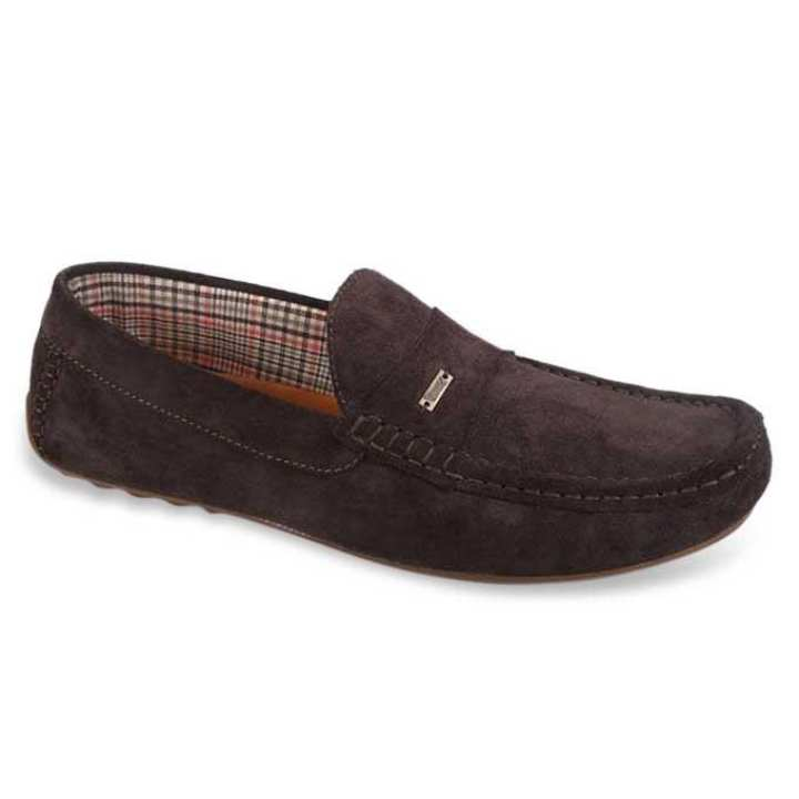 Maverick Dark Maroon Leather Loafer for Men