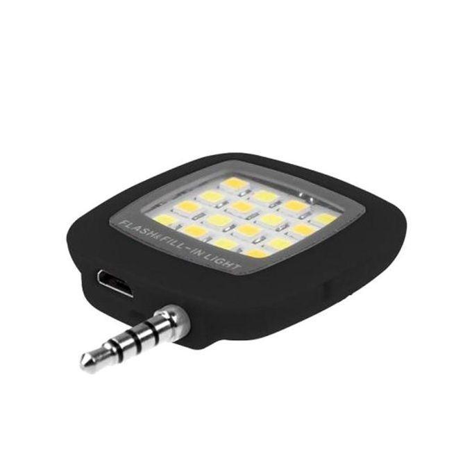 Portable Led Selfie Flash Light - Black