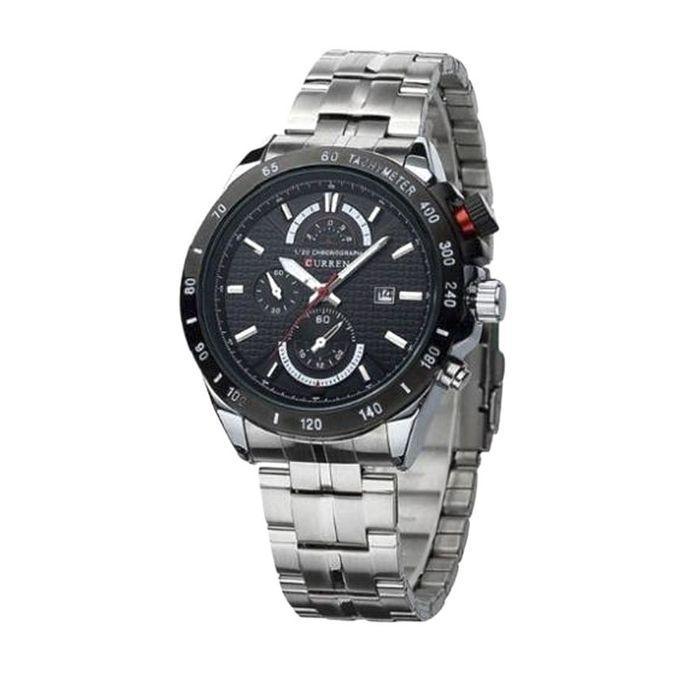 LA008 - Silver Analog  Watch For Men