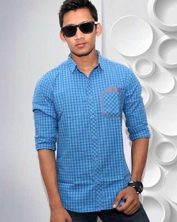 Aqua Cotton Casual Full Sleeve Shirt For Men