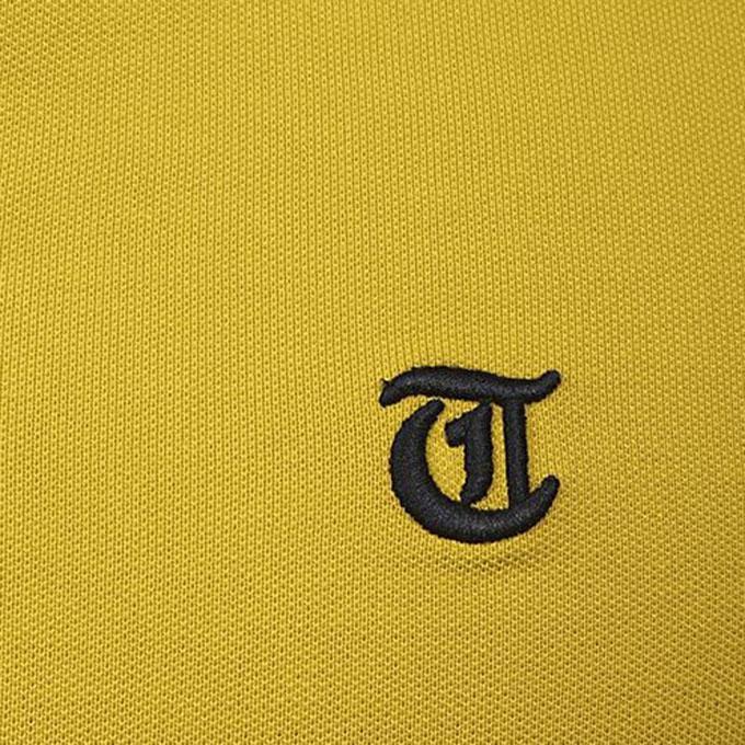 Yellow Cotton Short Sleeve Tanjim Polo For Men