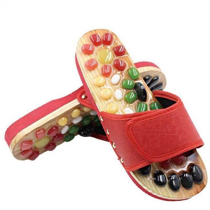 Wooden Foot Massage Slippers