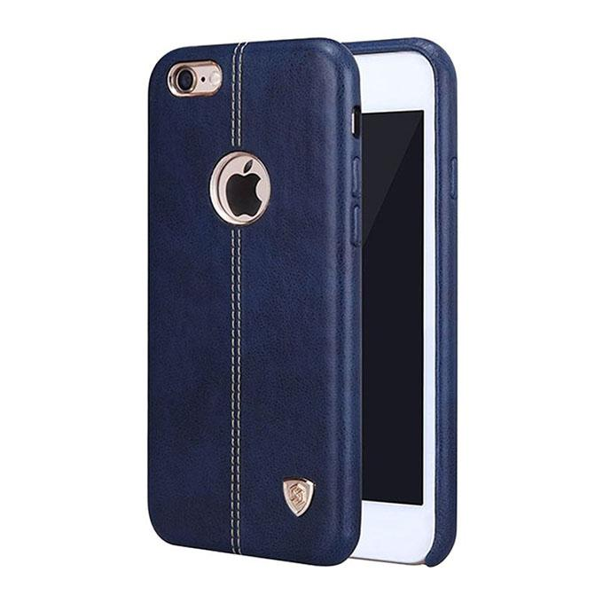 NEV IP6F Englon Series Premium Leather Case Back Cover for iPhone 6S - Blue