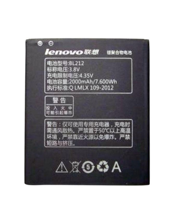 Original 2000mAh BL212 Mobile Battery - Black