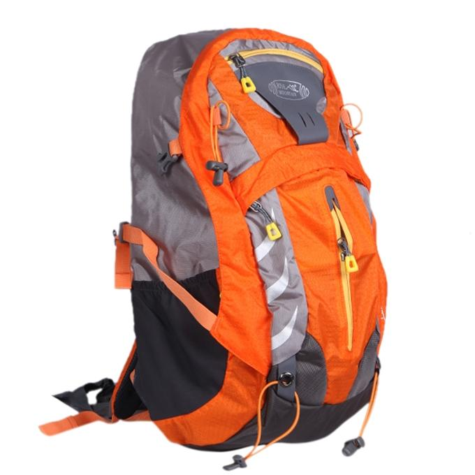 Orange Polystar Backpack For Men