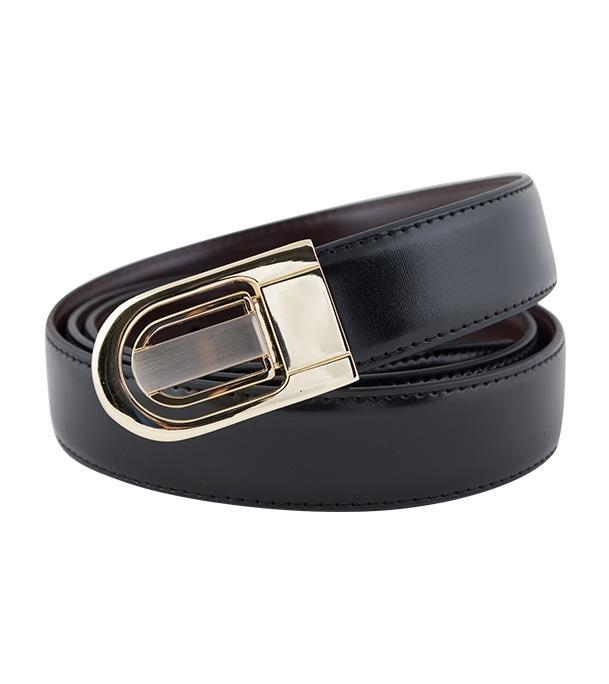 Golden Artificial Leather Belt For Men