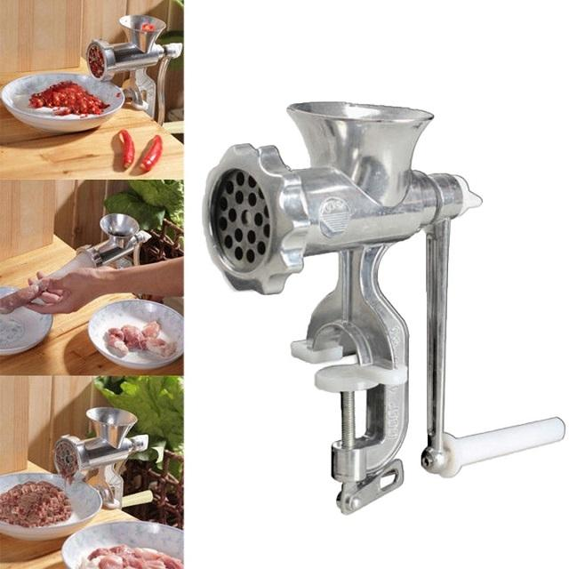 Meat Mincer - Silver Sausage Meat