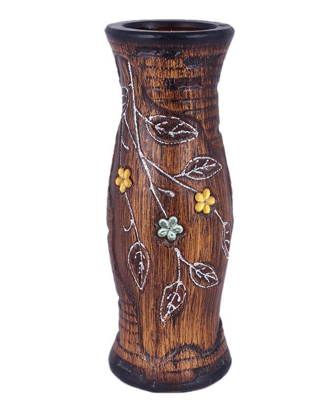 Wooden Small Flower Vase - Brown