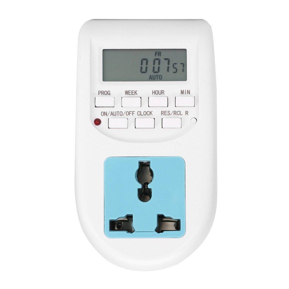 Digital Energy Saving Timer Programmable Electronic Timer Plug EU display