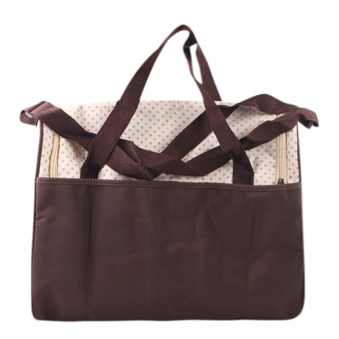 Cream and Coffee Polyester Hand Bag For Women