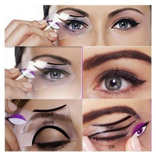 Cat Eyeliner Aids Tool Template Outlined Cat Eye Liner Makeup Tools
