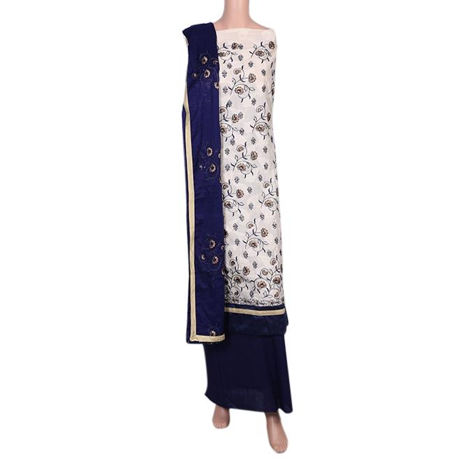 Multi Color Cotton Unstitched Salwar Kameez For Women