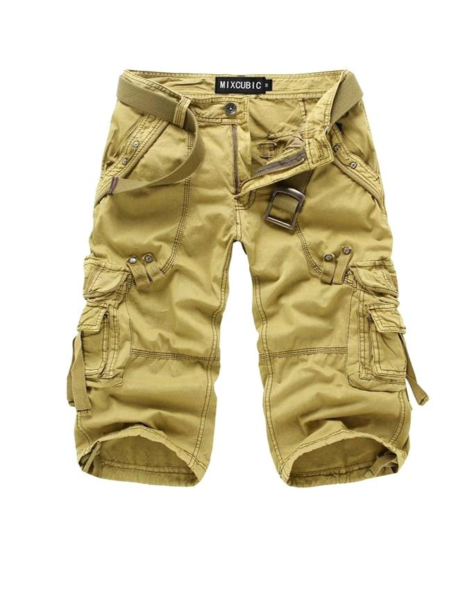 Yellow Cotton Shorts For Men