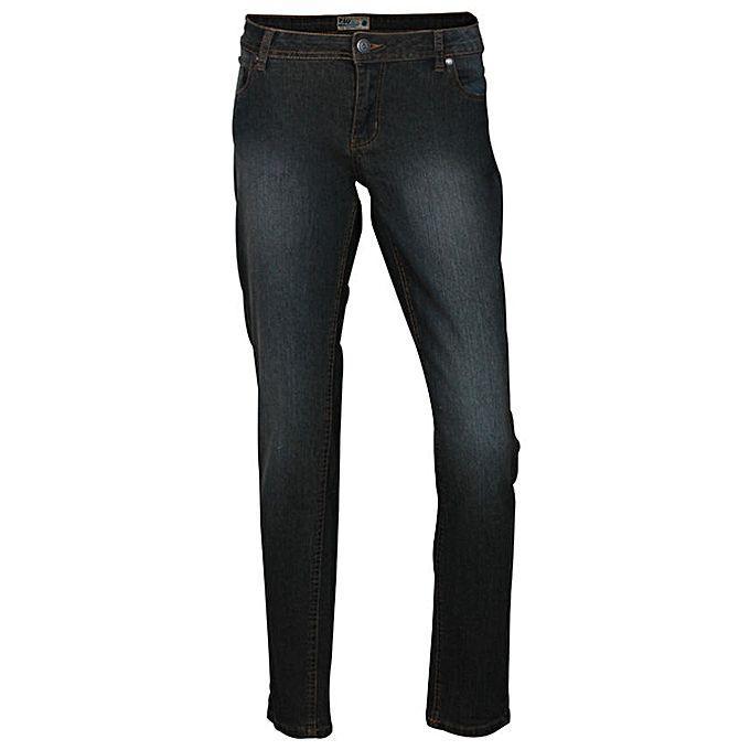 Ladies Cotton Casual Pants - Dark Black