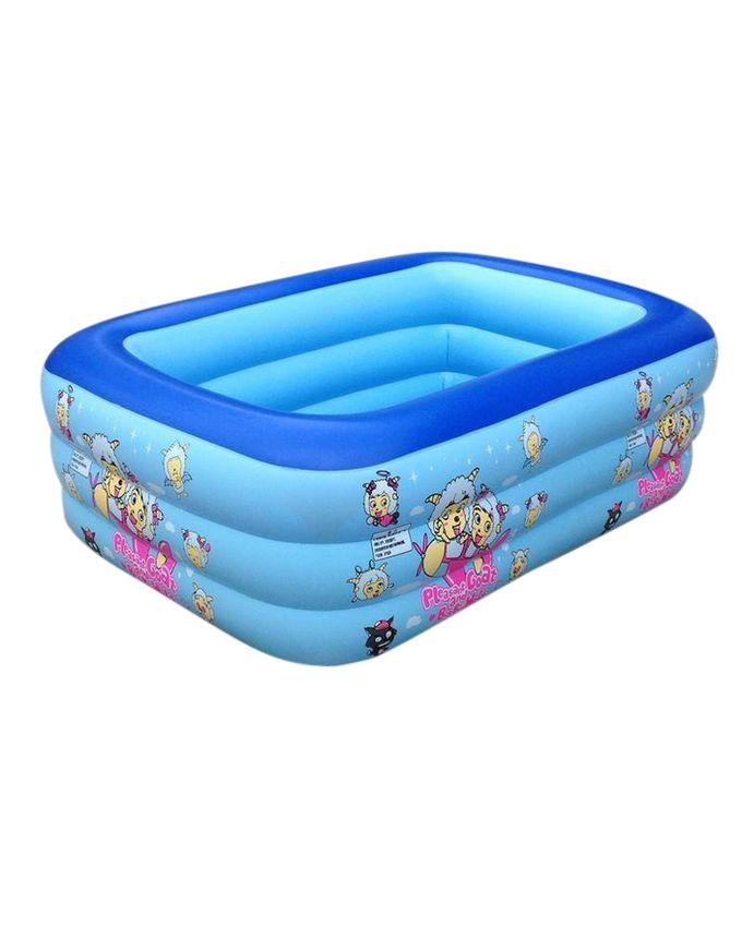 Baby Swimming Pool With Air Pump - Blue