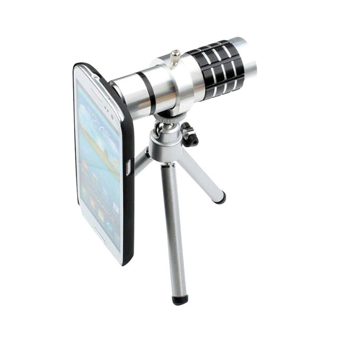 14X Telescope Zoom Lens With Tripod - Silver