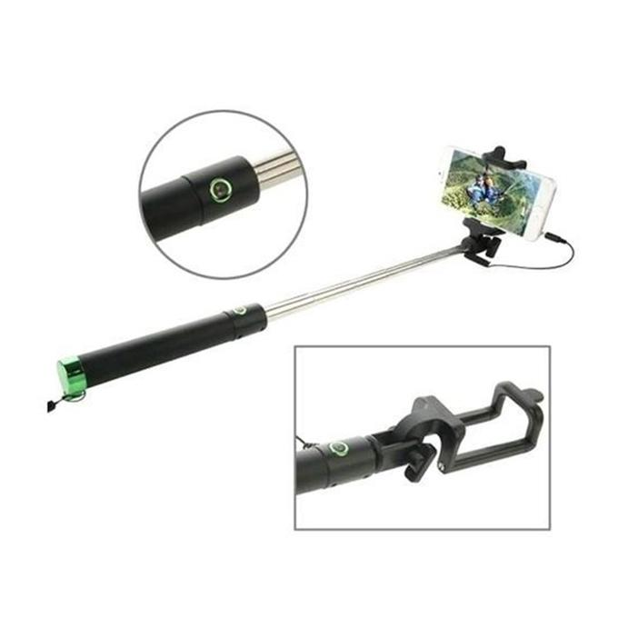 Combo Pack of KM-1720 Plus Rechargeable Shaver Plus Selfie Stick and LED Flash Light - Black and White