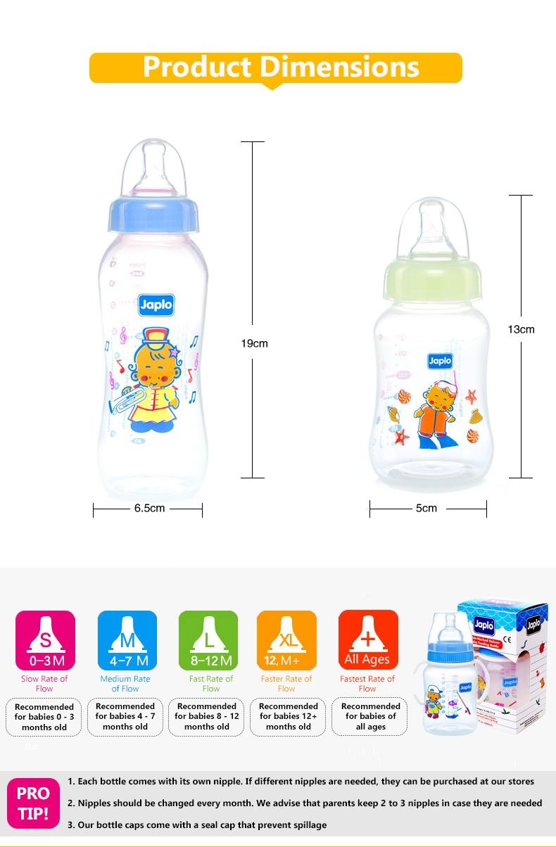Halal Streamlined Series Feeding Bottle - 250ml - Sky Blue