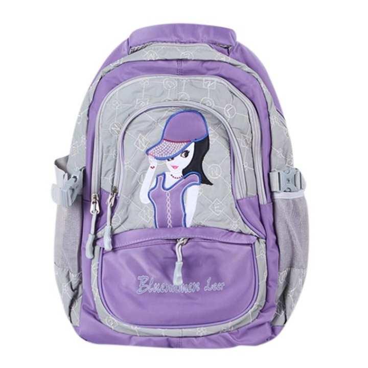 Polyester Backpack For Girls - Light Purple