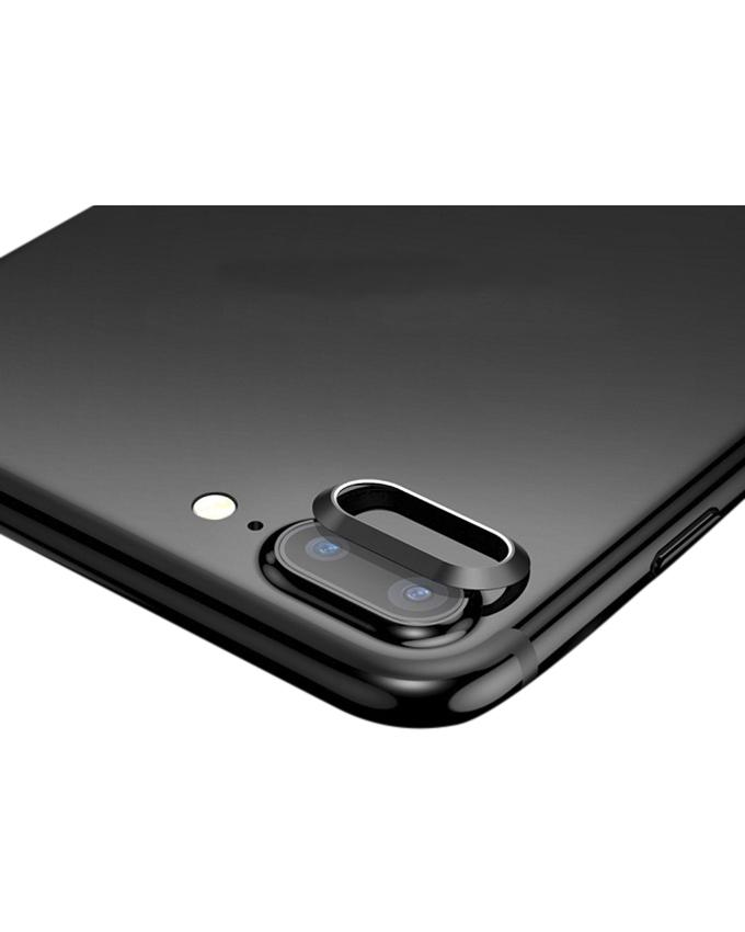 Paste Type Metal Lens Protector Ring For Iphone 7 Plus - - Black