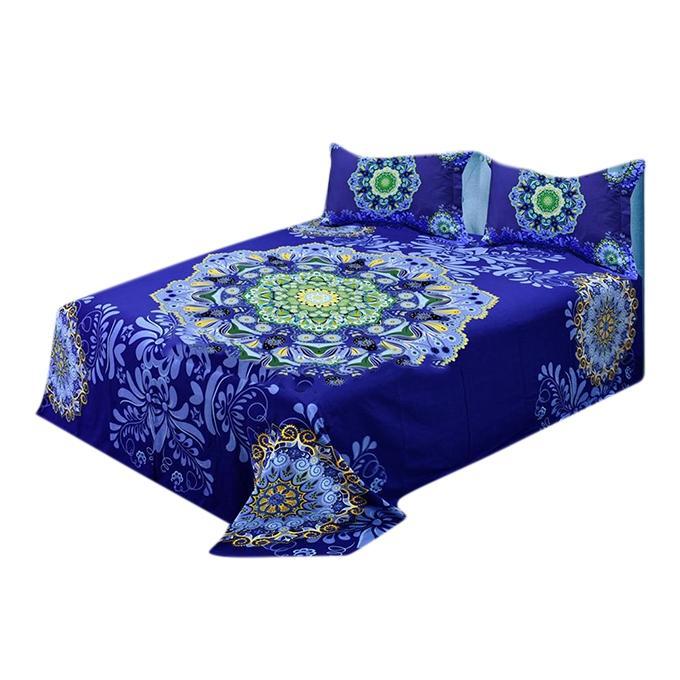 Multi Color Cotton King Size Bedsheet Set