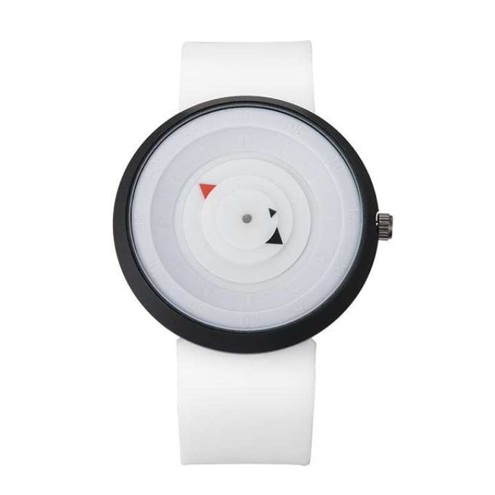 White Silicone Sports Watch