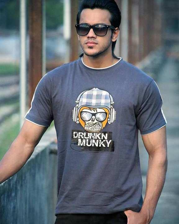Cotton Casual T-Shirt for Men - Grey