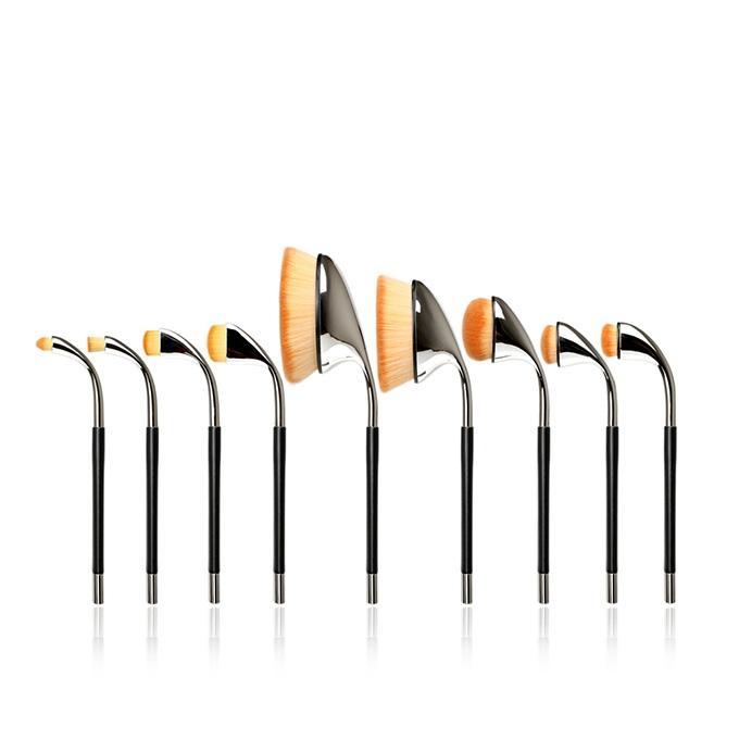 T134 9 PCs Individual Series Brush Set - Black