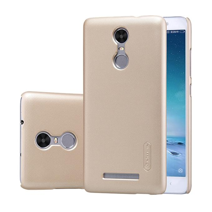 Super Frosted Shield Back Cover for Xiaomi RedMi 3 - Golden