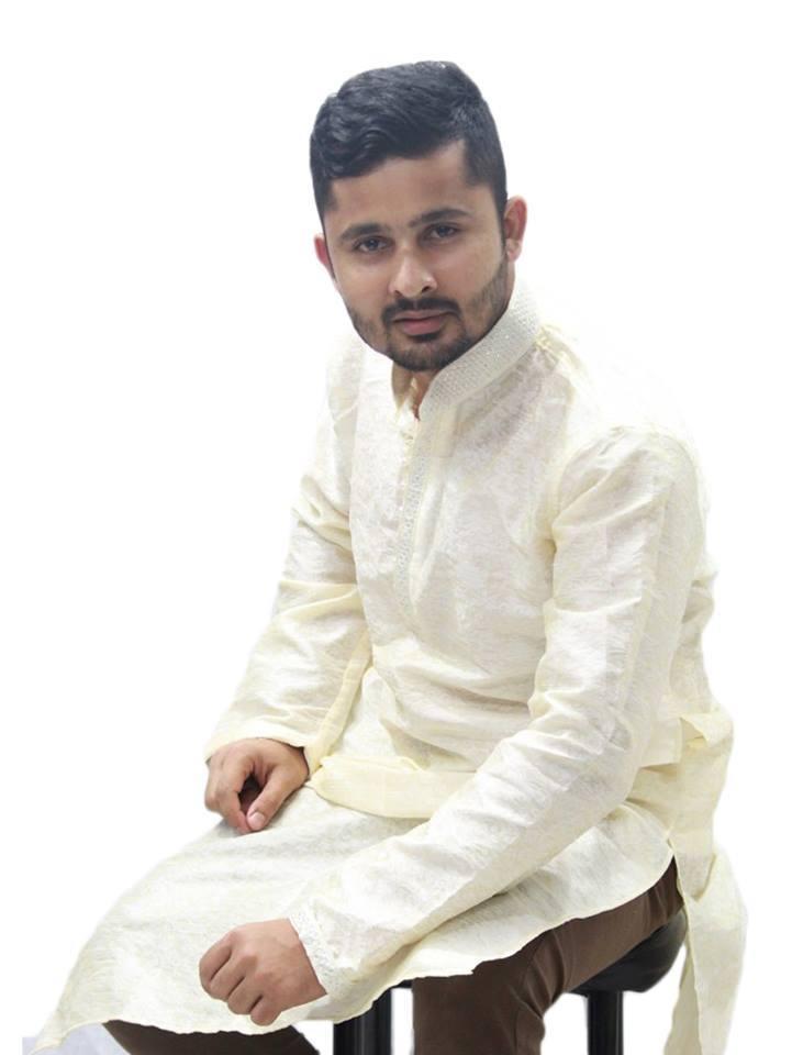 Cream Cotton Panjabi For Men