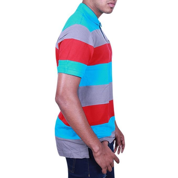 Multi Color Cotton Polo Shirt For Men