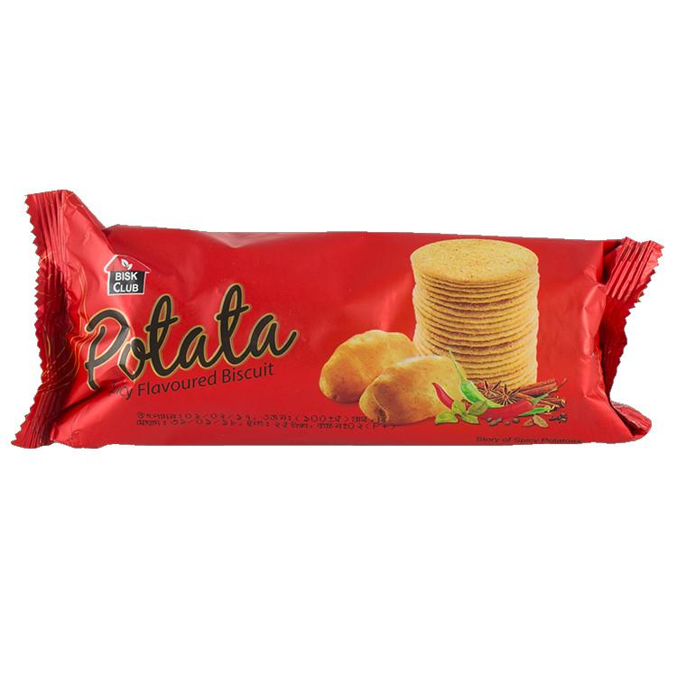Pran Bisk Club Potata Biscuit - 100gm (Spicy Flavoured) (Combo of 2pack)