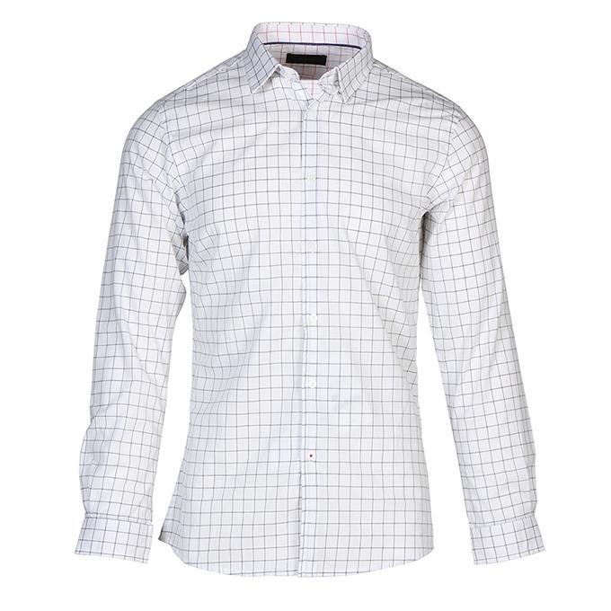 White  Cotton Formal Shirt for Men