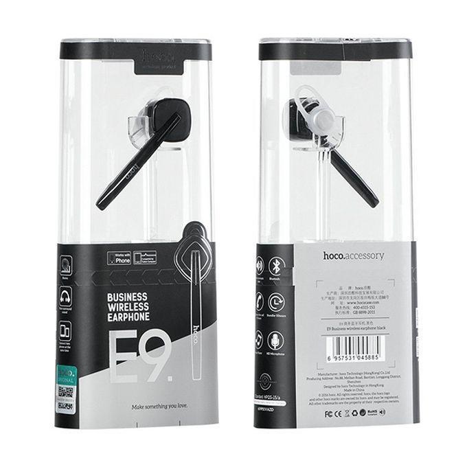 E9 - Wireless Bluetooth Headset - Black