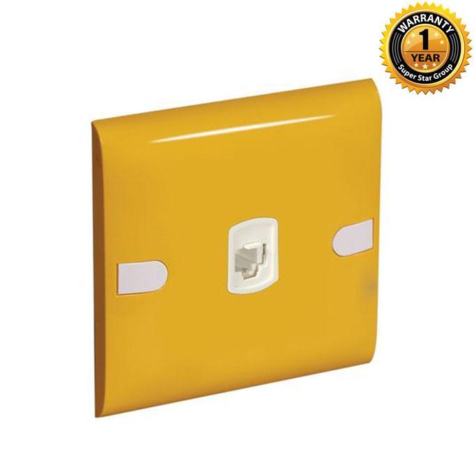 Color Slim Series Color Slim Telephone Socket - Yellow