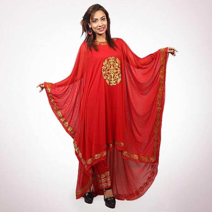 Red Georgette Kaftaan For Women
