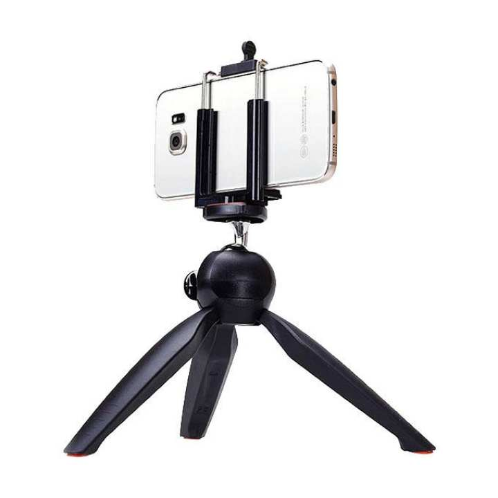 228 Mini Tripod + Phone Holder Clip Desktop Self-Tripod For SLR Camera - Black