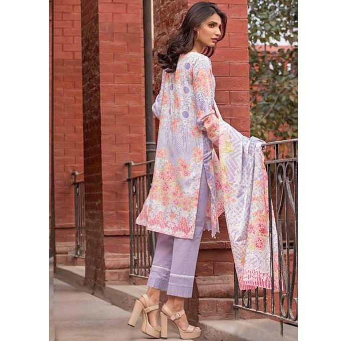 Lavender Cotton Unstitched Pakistani Lawn for Women