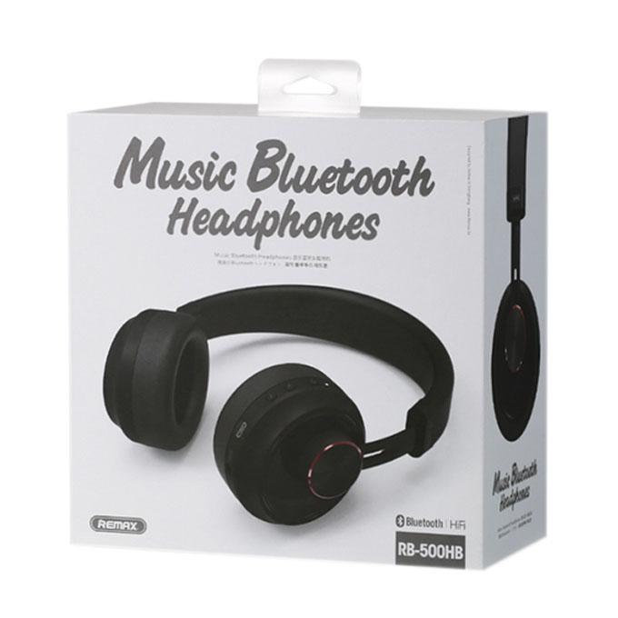 RB-500HB Wireless Bluetooth Headphone - Black