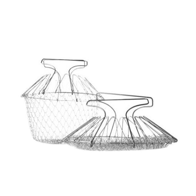 Foldable Chef Basket - Silver