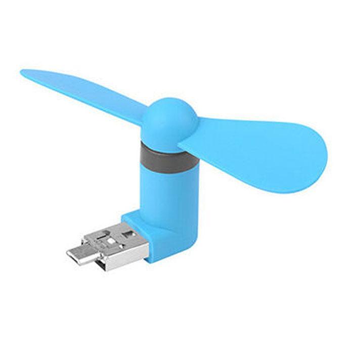 Portable USB Mini Fan For Smart Phone  – Blue