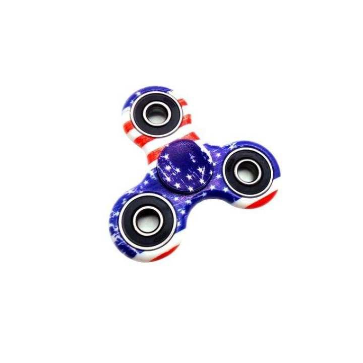 G&G EDC Printed Fidget Spinner Stress Reducer Toy – Multicolor