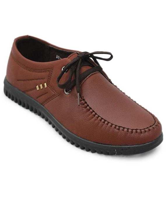 Men's PU Boat Shoe - Dark Brown