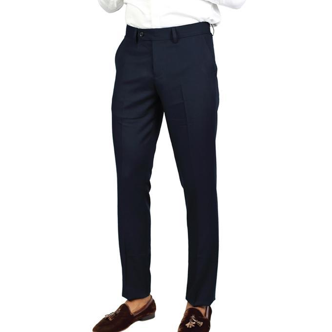 Black Poly Viscose Formal Pant For Men